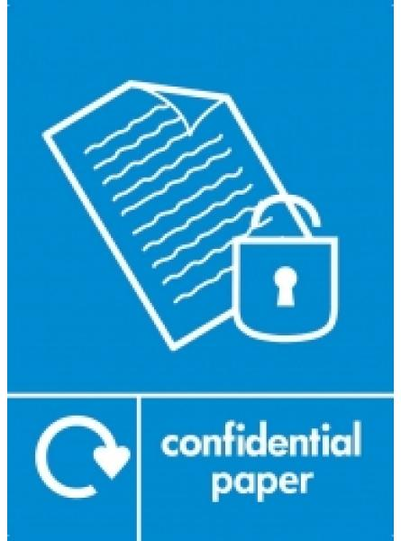 CONFIDENTIAL PAPER LABEL BLUE (RL-001)