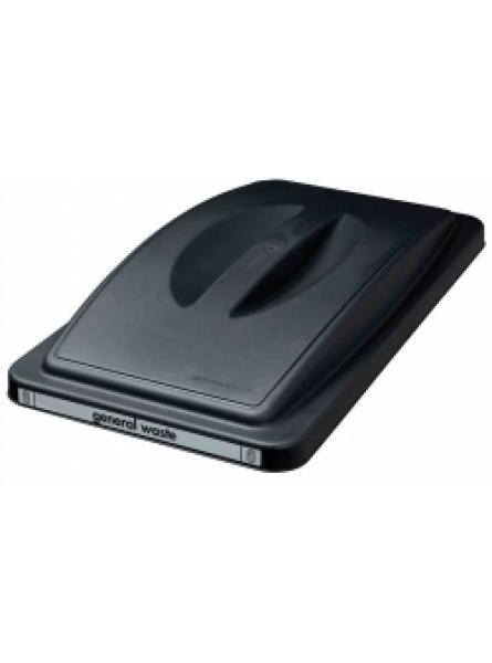 General Waste Slimline Bin Lid Black