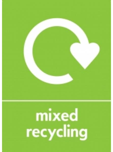MIXED RECYCLING LABEL