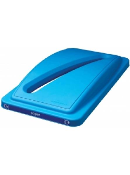 Paper Recycling Lid Slimline Blue