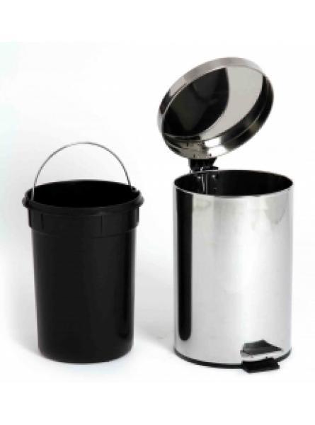 12l Pedal Operated Bin Chrome Plastic Liner