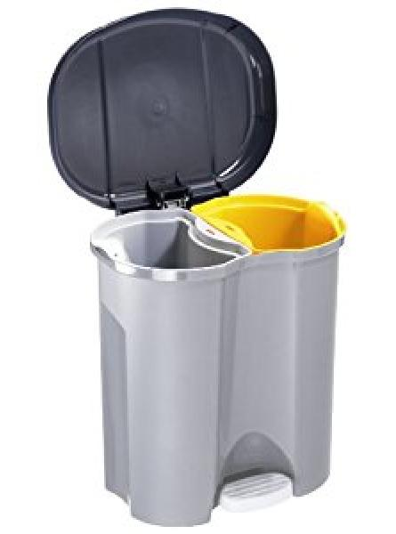 56 LTR PEDAL OPERATED RECYCLE BIN 2 COMPARTMENTS PLASTIC