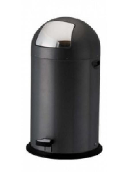 40L Steel Pedal Bins Black