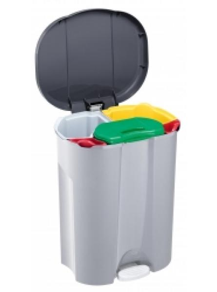 43 LTR PEDAL OPERATED RECYCLE BIN 5 COMPARTMENTS PLASTIC