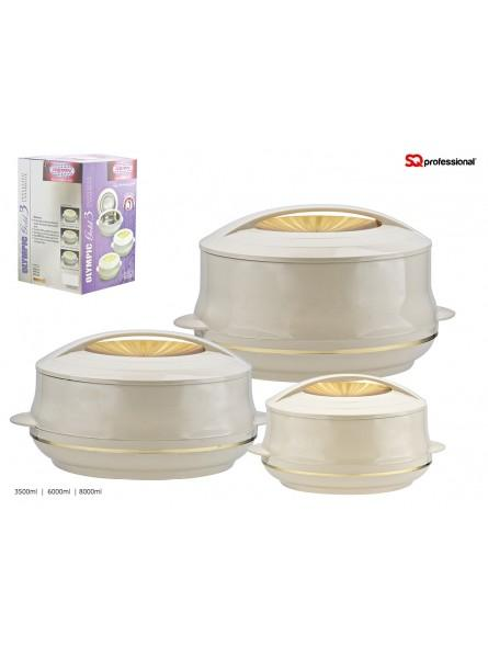 Olympic Gold Hotpot King size Set 3 pieces- Beige
