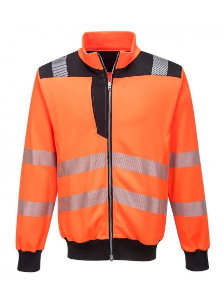 PW370 > PW3 Hi-Vis Sweatshirt > Orange/Black