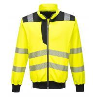 PW370 > PW3 Hi-Vis Sweatshirt > Yellow/Black
