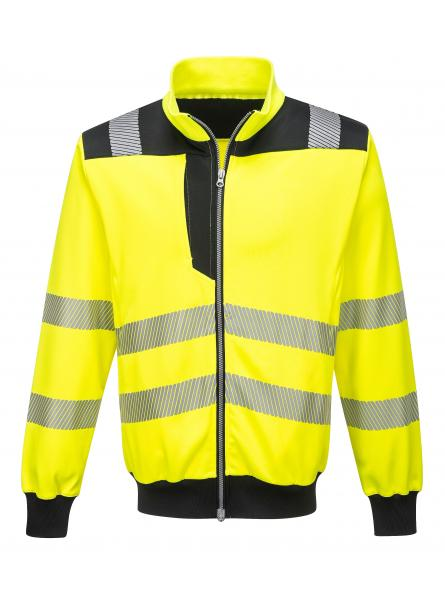PW370 > PW3 Hi-Vis Sweatshirt > Yellow/Black