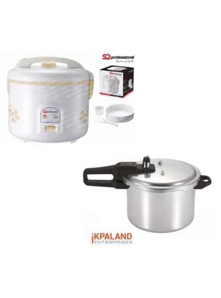 Matching set: 9L Pressure cooker + 2.8L rice cooker - Silver