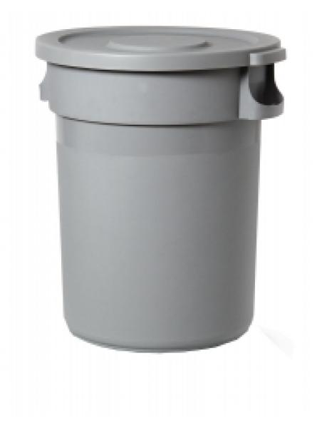 Round Container 168L - 44 3/8 Grey