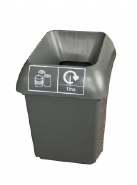 30ltr Recycling Bin Comp With Grey Lid And Tins Logo