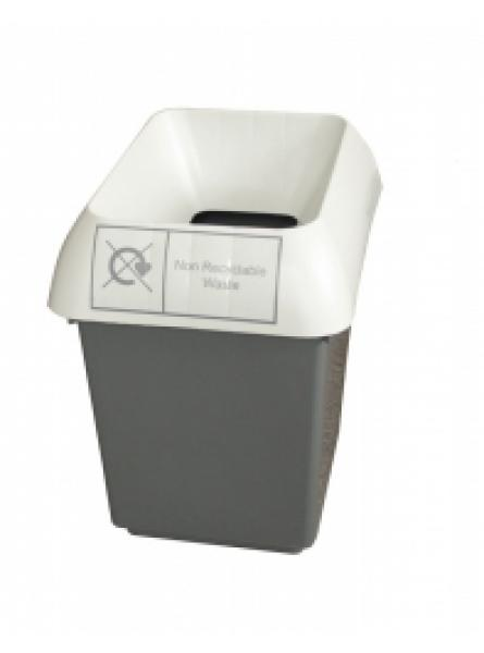 30ltr Recycling Bin Comp With Light Grey Lid And Non Rec Logo