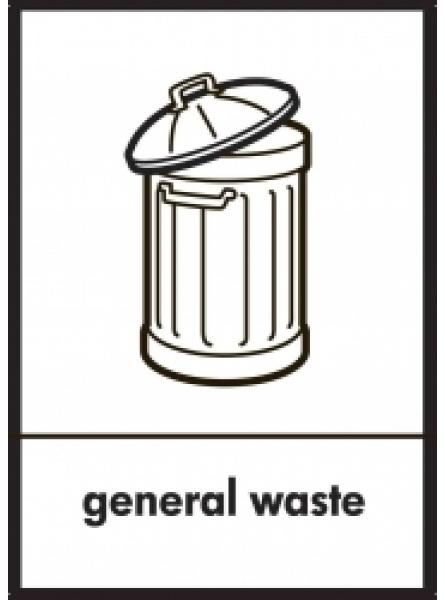 GENERAL WASTE LABEL IN CLEAR AND BLACK GRAPHIC