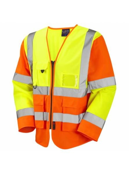Wrafton ISO 20471 Class 3 Sleeved Superior Waistcoat Yellow/Orange