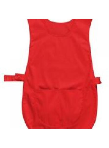 Tabard with Pocket-Red