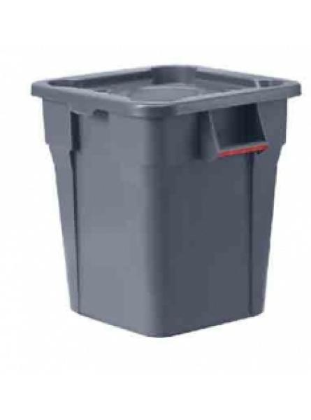 106l Heavy Duty Square Container Grey