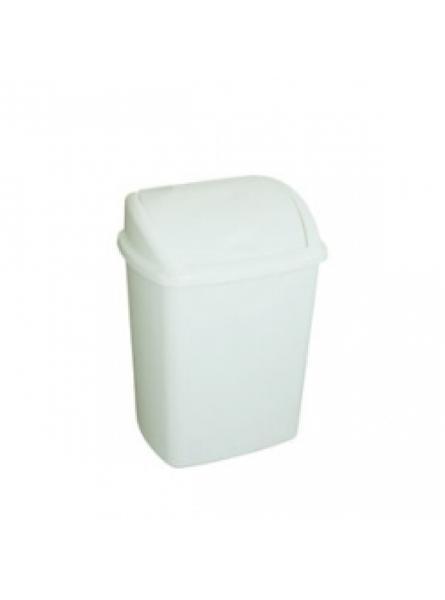 8 Litre Swing Top Bin, White W200 X D252 X H330 mm