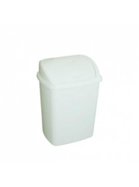 25 Litre Swing Top Bin, White D 272 X W 352 X H 480mm