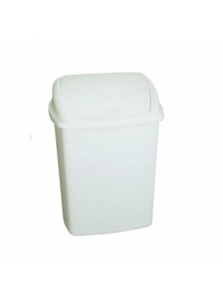 40 Litre Swing Top Bin, White 400 x 315 x 680 mm