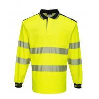 T184 > PW3 Hi-Vis Polo Shirt L/S- Yellow/Black