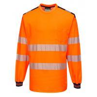 T185 > PW3 Hi-Vis T-Shirt L/S > Orange/Navy