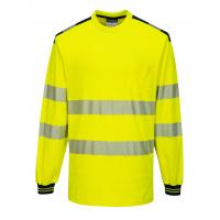 T185 > PW3 Hi-Vis T-Shirt L/S > Yellow/Black