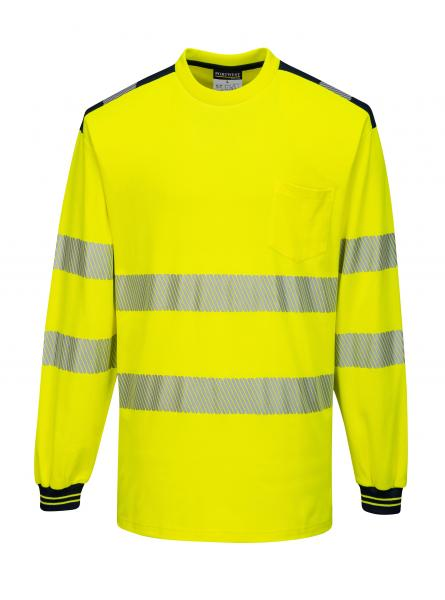T185 > PW3 Hi-Vis T-Shirt L/S > Yellow/Black