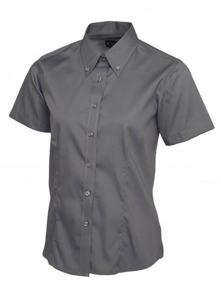 UC704 Ladies Pinpoint Oxford Half Sleeve Shirt