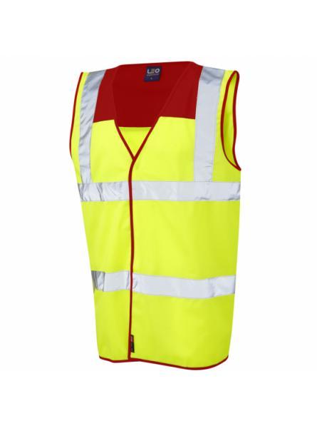Bradworthy ISO 20471 Class 2 Red Yoke Waistcoat