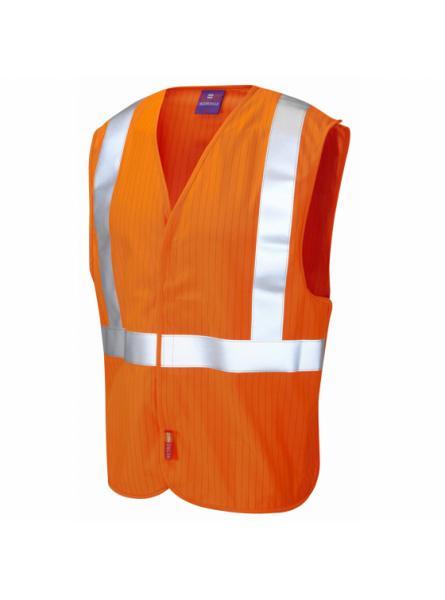 Muddiford ISO 20471 Class 2 LFS Anti-Static Railway Waistcoat Orange