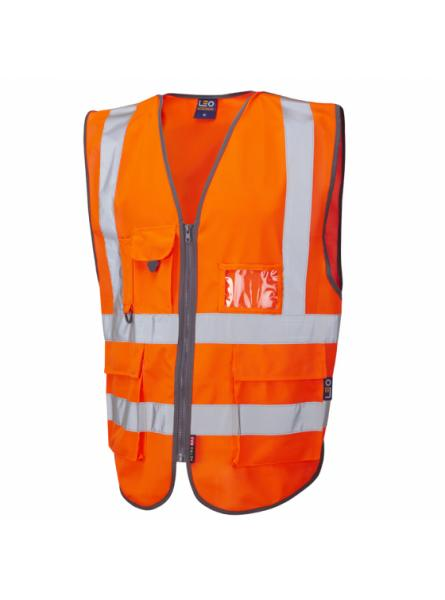 Barnstaple ISO 20471 Class 2 Superior Railway Waistcoat Orange