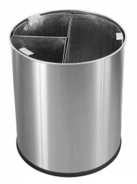 13L Waste Bin S/S with 3 x 3L Liners Black