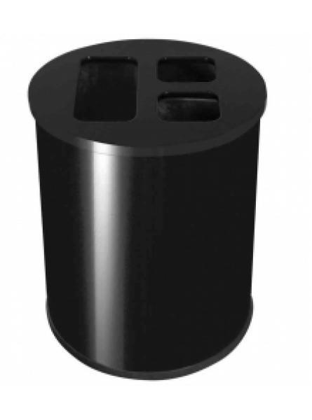 40L Waste Separation Bin Black 3 Liners 1 @ 20l & 2 @ 10l