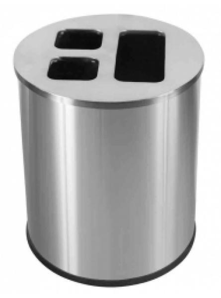 40L Waste Separation Bin S/S 3 Liners 1 @ 20l & 2 @ 10l
