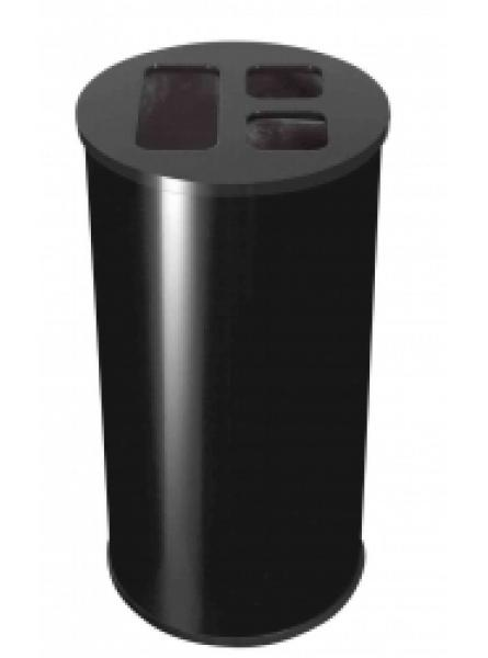 60L Waste Separation Bin Black 3 Liners 1 @ 30l & 2 @ 15l