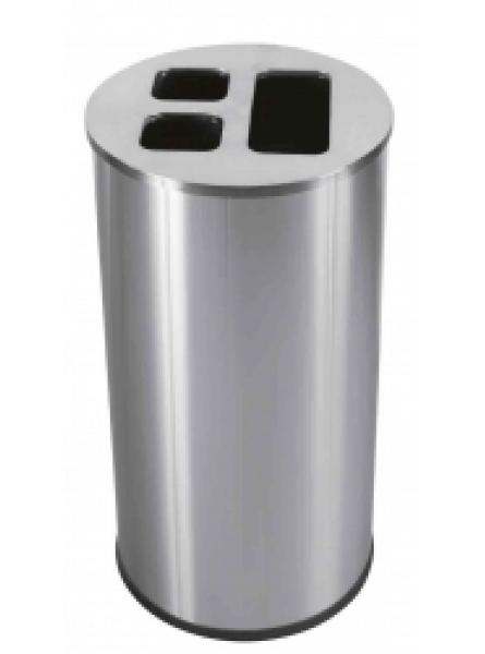 60L Waste Separation Bin S/S 3 Liners 1 @ 30l & 2 @ 15l