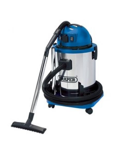 50l Wet And Dry Vacuum Cleaner With Stainless Steel Tank And 230v Power Tool Socket (1400w)