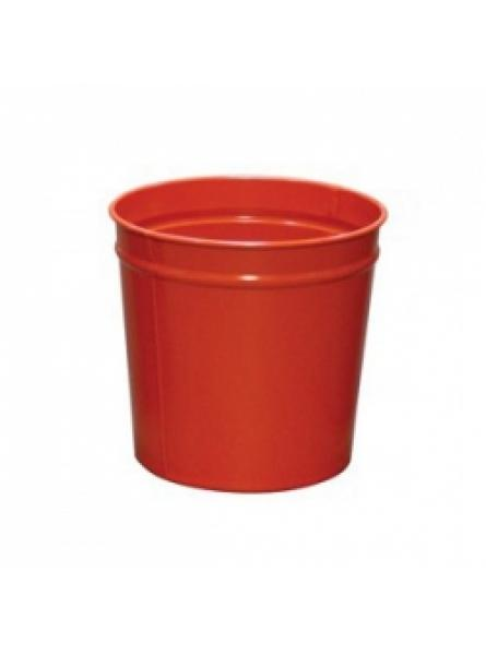 12 Litre waste baskets, steel, Red