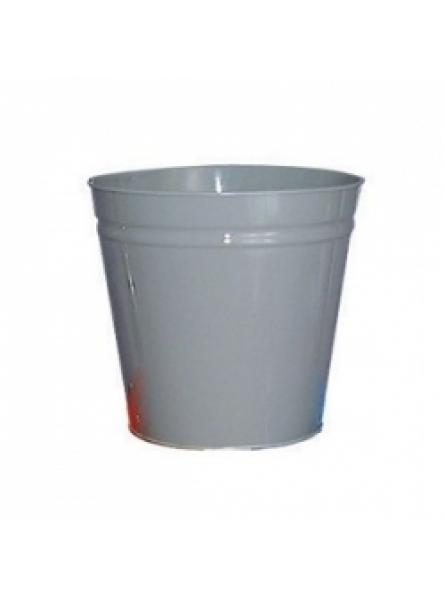 12 Litre waste baskets, steel, Grey