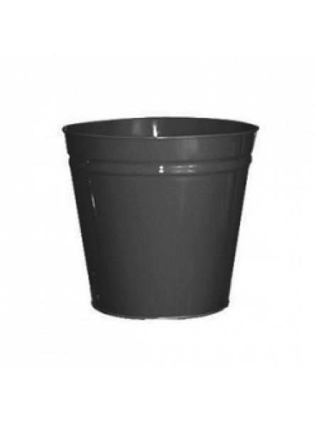 12 Litre waste baskets, steel, Black