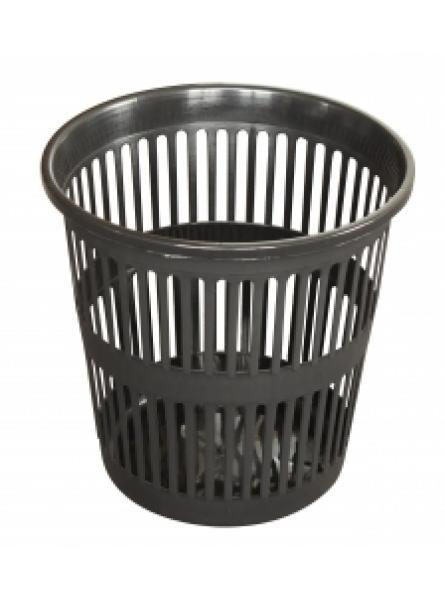 12 Litre Plastic Mesh Wastebasket Black X 48 Pack