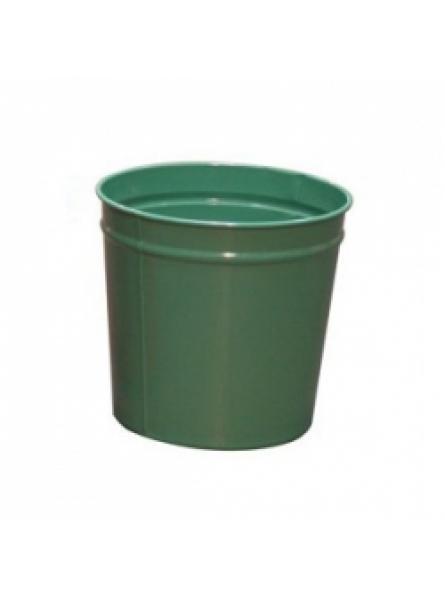 12 Litre waste baskets, steel, Green