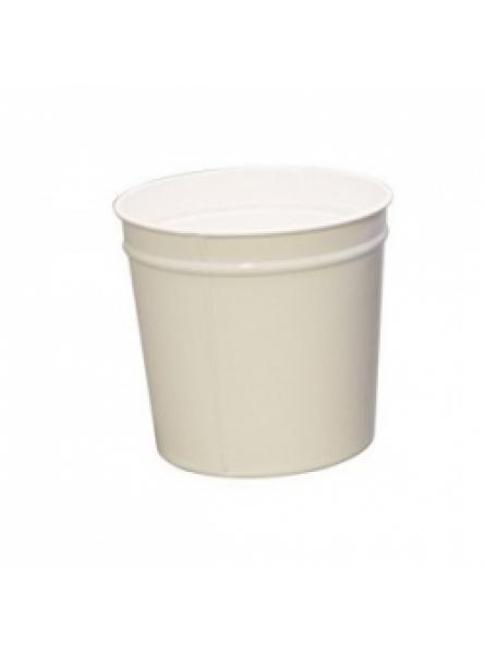12 Litre waste baskets, steel,White