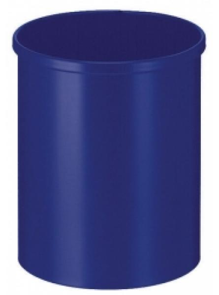15 Litre Waste Basket, Circular, Steel, Blue