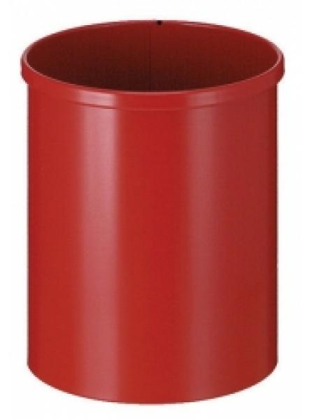 15 Litre Waste Basket Circular, Steel, Red