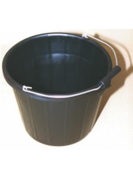 Black 15L Plastic Industrial Bucket