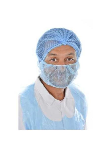 Cater Safe Disposable Beard Mask Blue Pack of 100