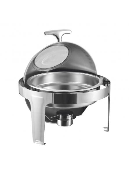 Chafing Dish With Rolling Top And Window Round 46cm-7.5L (721A)