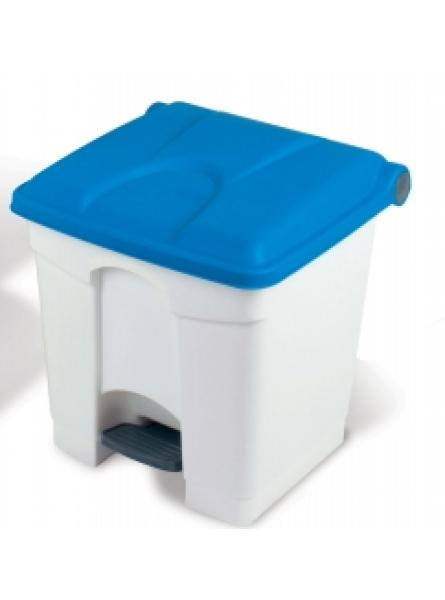 30l Step-On Container White Base Blue Li