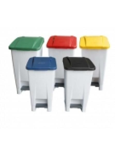 60 LTR PLASTIC BODIED S HOLDER WHITE WITH YELLOW LID